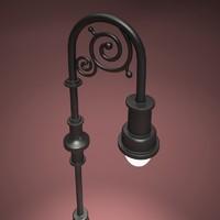 3d model park light