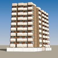 3d apartment building