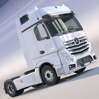 new mercedes actros mp4 3d 3ds