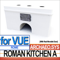 3d model roman kitchen ancient rome