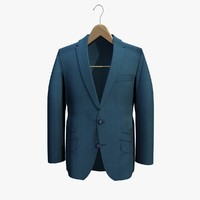 blue jacket coat hanger 3d c4d