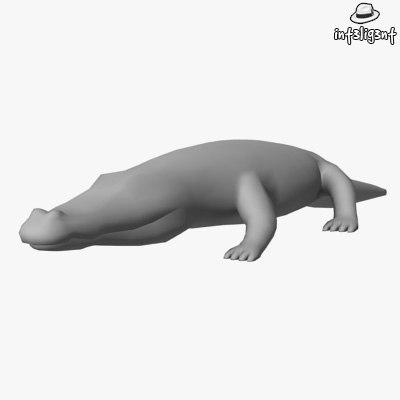 Low Poly Crocodile