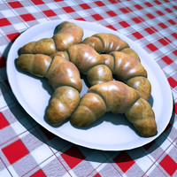 free max model croissant plate