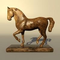 3d horse statuette model