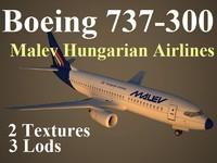 boeing 737-300 mah 3d model