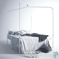 3d model bed bedrooms furniture