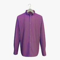 3d purple shirt hanger model