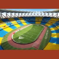 3d football stadium model