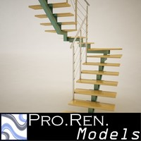3d model stair architectural