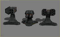 turrets mobile 3d model
