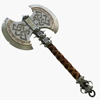 dwarf axe 3d max