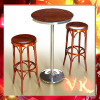 bar table stool 3d max
