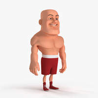 3ds max cartoon boxing fighter boxer