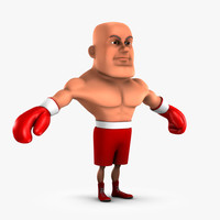 3d model cartoon boxing fighter boxer