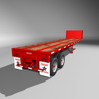 3ds 35 fruehauf flatbed semi trailer