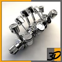 3d v12 crankshaft