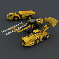 Underground Mining Vehicles Pack