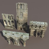 castle ruins modelled 3d model