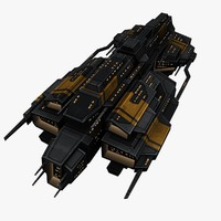 3d upgraded ship space battleships