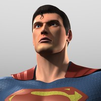 original costume man steel 3d obj