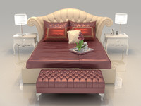3dsmax bed set mattress bedroom
