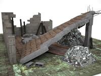 ruin house model