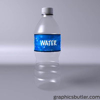 c4d bottle water
