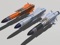 kh-31 family missile 3d model