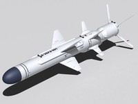 kh-35ue missile ship 3d model