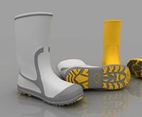 3d model of rain boots
