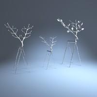 deer twig reindeer 3d max