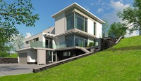 Photorealistic Family  modern house #3