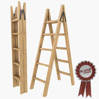 maya wooden folding ladder
