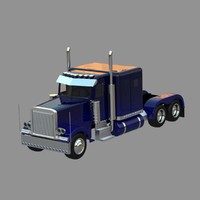 3d model heavy truck 379 toy car