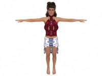 realistic female 3d model