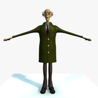 jack male engineer cartoon 3d 3ds