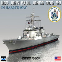 USS John Paul Jones DDG-53 with SH-60