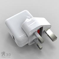 3d apple plug