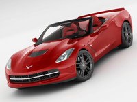 3ds max chevrolet cor sting