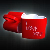 cup heart 3d model