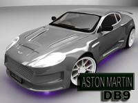 aston martin db9 3d obj