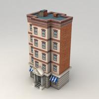 3d max city house