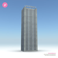 skyscraper 20 day night 3d model