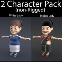 3d character pack 05 lady