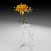 3d model of outline vase