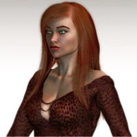 3d realistical woman karina model