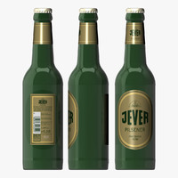 bottle jever beer 3d model