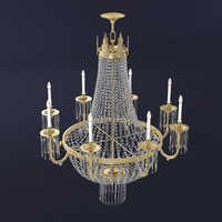 chandelier crystal 3d model