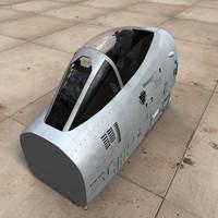 3d model a10 cockpit