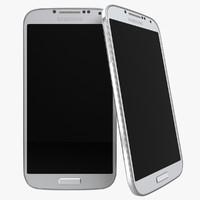 smartphone galaxy s4 3d model